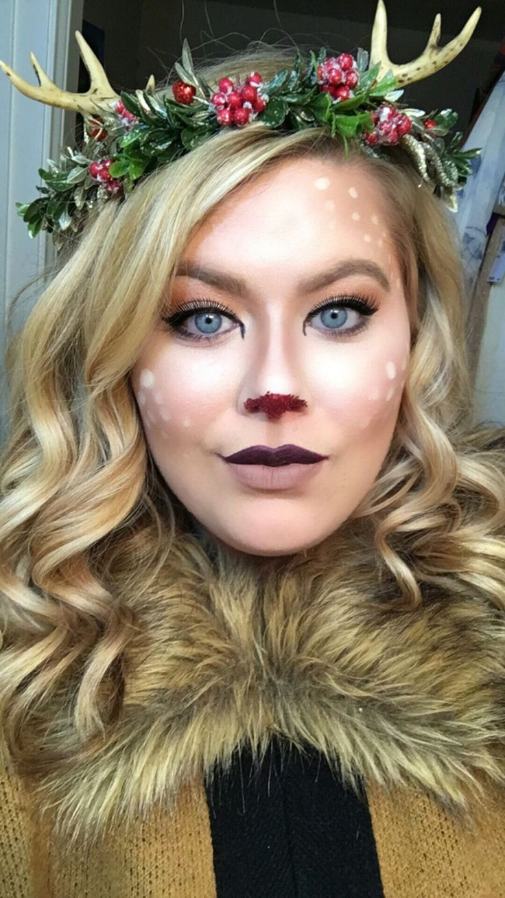 Rudolph Makeup - Deer Makeup @gracefullykelsey