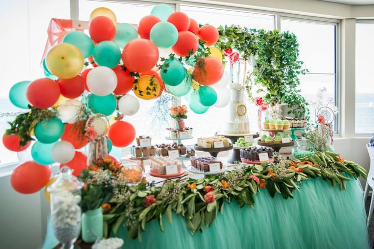 So many lovely details in this fabulous boho themed christening party styled by the very talented Rainbows and Lollipops. We are loving the balloon arch, scrumptious desserts served in mini pots, a...