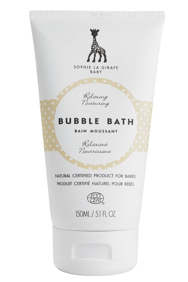 Marvellous mild and gentle bubble bath. Designed for babies, loved by whole family.  Ecocert certified, no nasties. Mild and sophisticated scent.   Loved by babies, parents and beauty editors and bloggers around the world.    www.sophielagirafecosmetics.com