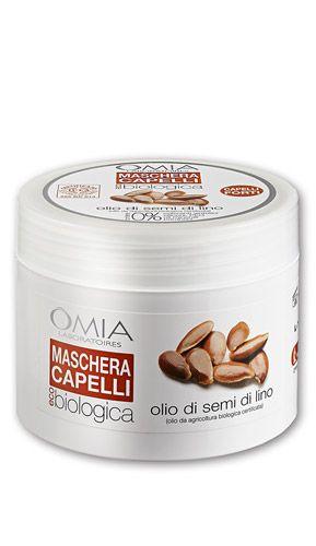 OMIA Maschera capelli Lino Mi piacciono molto questi prodotti, con solo ingredienti di qualità e solo quelli essenziali.