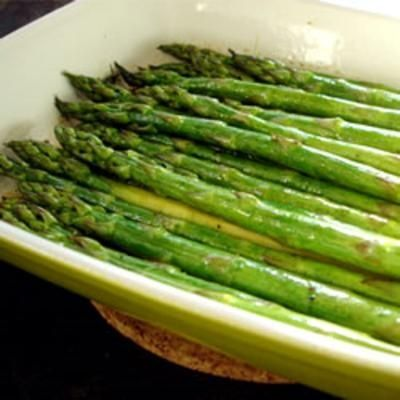 Baked Asparagus with Balsamic Butter Sauce food-and-drink