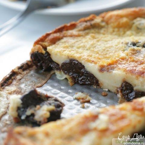 Клафути с черносливом, 231 ккал/100 г. Рецепт несложный, десерт вкусный!