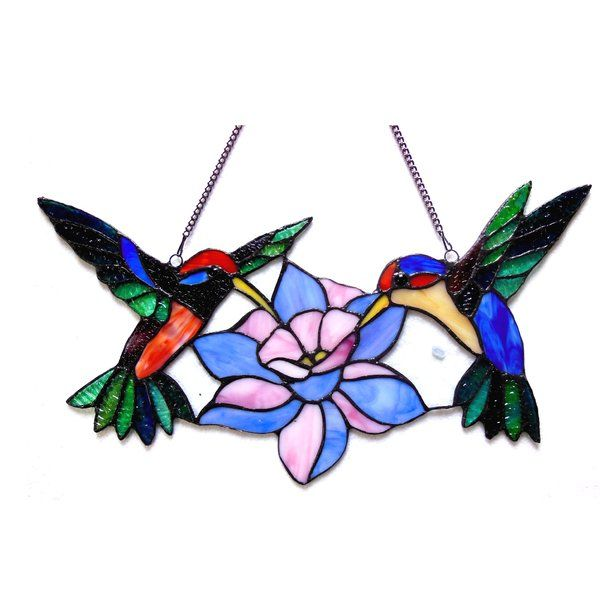 Tiffany Glass Hummingbirds Window Panel Stained Glass Designs Stained Glass Art Stained Glass Birds
