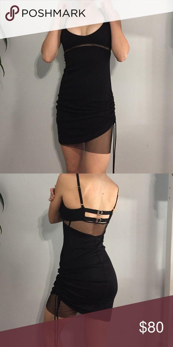 DIESEL dress Goth vibes, a sheer mesh layer peeking out underneath Diesel Dresses Mini