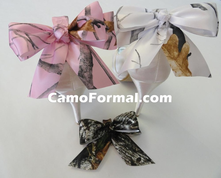 Bow on the back wedding ideas pinterest prom for Camo ribbon for wedding dress