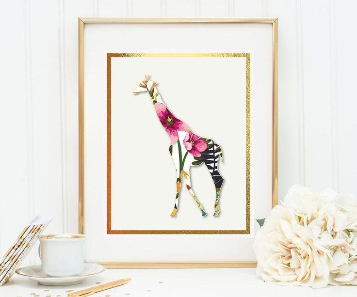 Un favorito personal de mi tienda de Etsy https://www.etsy.com/es/listing/560060141/giraffe-with-watercolor-flowers