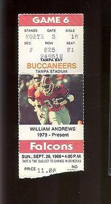 Tampa Bay Buccaneers vs Atlanta Falcons Ticket Stub Sept 28 1986 (Sku-43572)