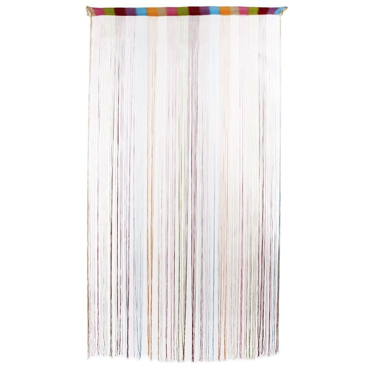 Home Polyester Straight Line Tassel Divider Decoration String Curtain Multicolor