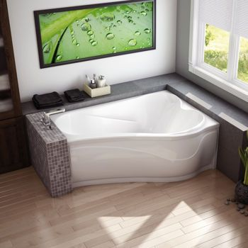 Murmur Bathtub by Maax, $1300. Asymmetrical and possibly a two-person - interesting