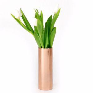 Vase cylindrique couleur cuivre Noella (2 tailles) XL Boom