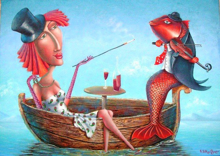 328 best artist zurab martiashvili images on pinterest for Red wine with fish