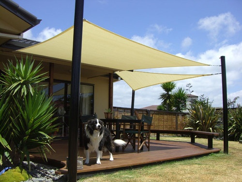 New square 10x10 sun shade sail cover canopy for outdoor patio yard sand beige outdoor patios - Shade canopy for deck ...