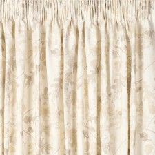 Laura Ashley Oakshaw Natural Pencil Pleat Curtains
