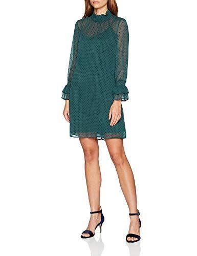 81884e2d53a ESPRIT Collection Women's 098eo1e016 Dress (Bottle Green 385) 14 (Size: 40)