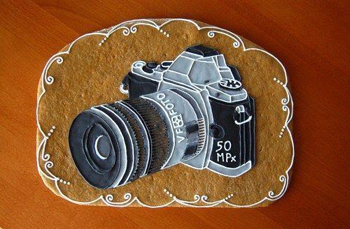 Perníkový fotoaparát  k narozeninám