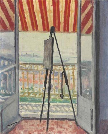 Albert Marquet - Balcon au store rayé (1945)