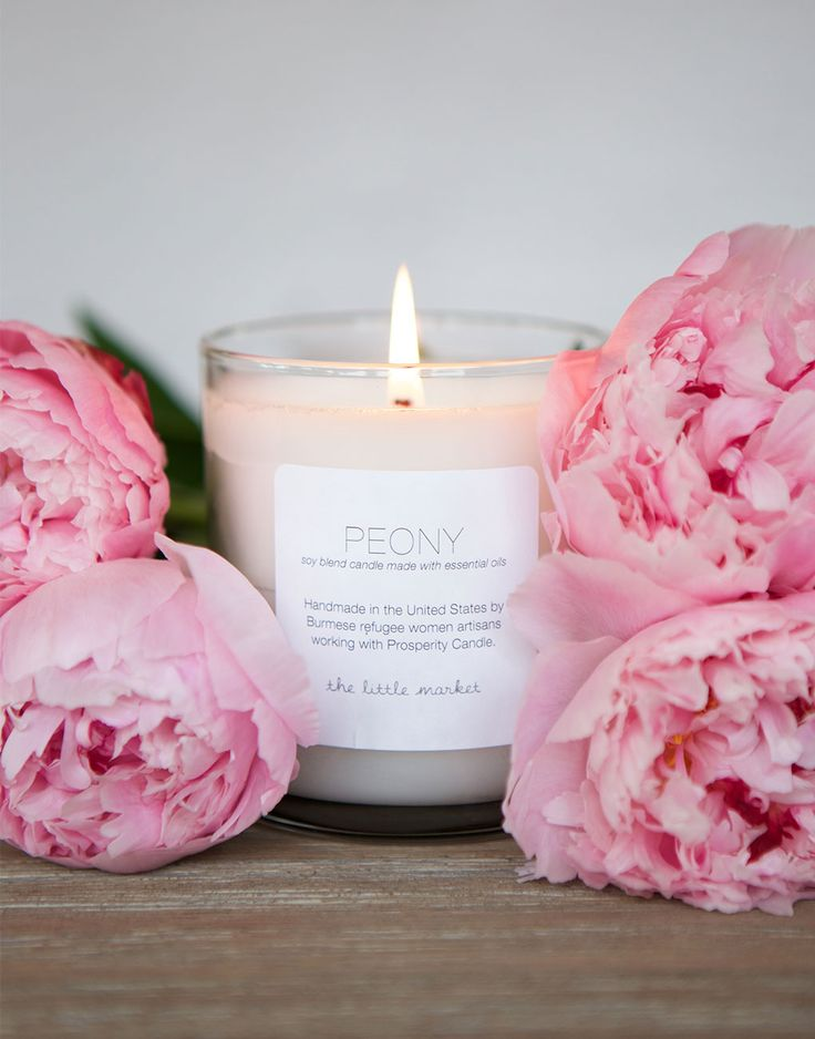 peony candle from The Little Market {our favorite}