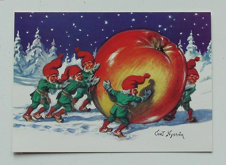 Curt Nystrom Gnomes and An Apple