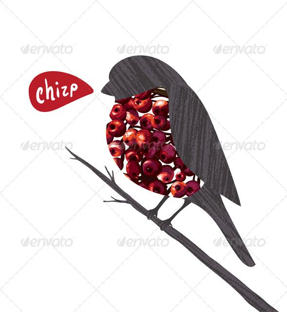 animal ashberry autumn background berries berry bird birdie branch bullfinch card cartoon character chirp christmas collage december design drawing graphic illustration nature red rowan rowanberry season singing sitting twig vector