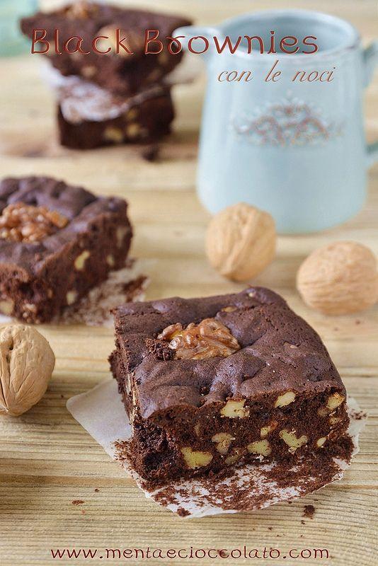 Menta e Cioccolato: Black Brownies con le noci per gli amanti del cioccolato fondente | mentaecioccolato |