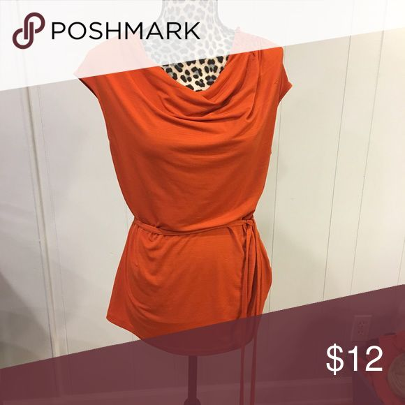 Orange Pullover tie top Orange scrunched top East 5th Tops Blouses
