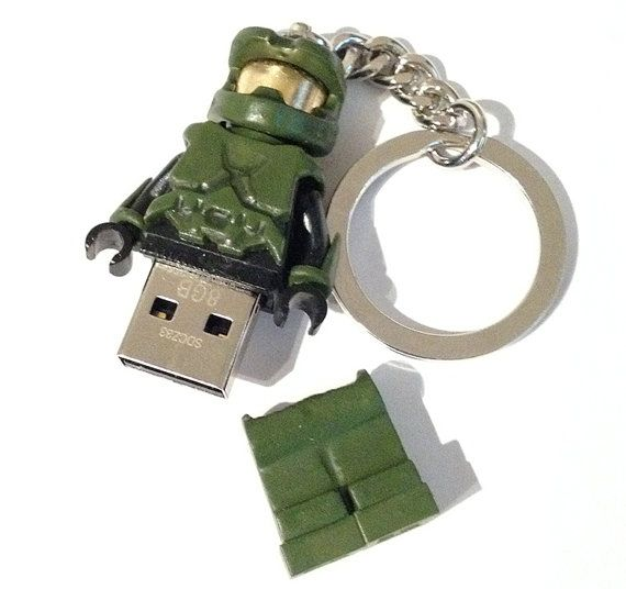 Lego HALO Master Chief USB Minifig Keychain 8Gb by DapperEffects More