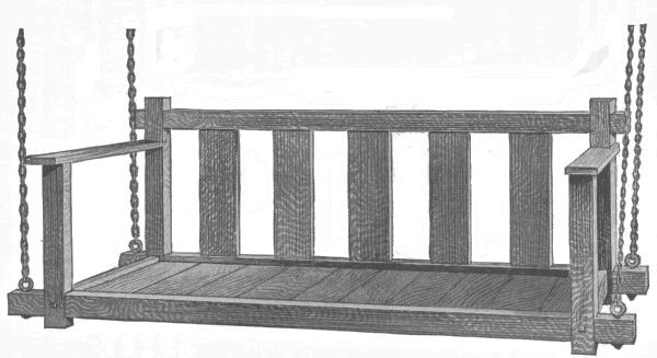 searching for ideas for a porch swing.  think i'd like to make one out of pallets and other salvaged/reclaimed materials.  of course i am drawn to the mission style swing depicted here.