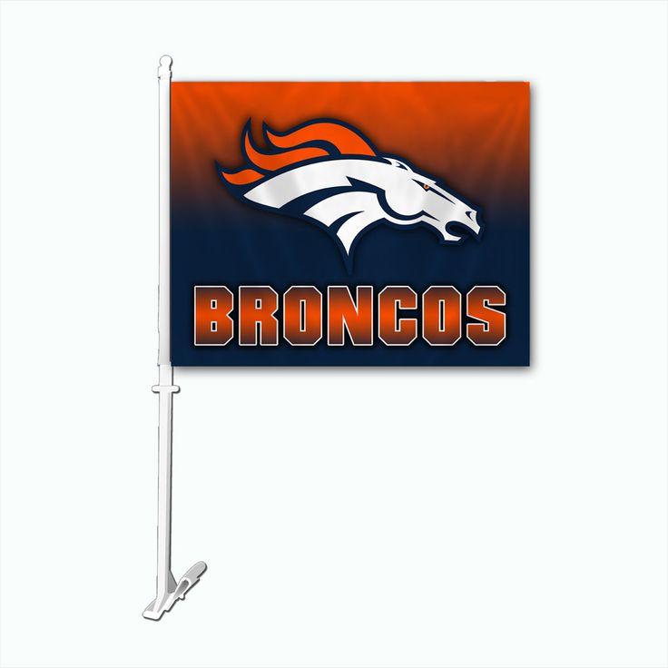 Denver Broncos Team Logo Car Flag