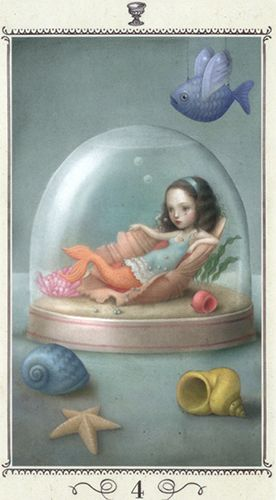 Nicoletta Ceccoli - Illustration - Tarot - Four of Cups
