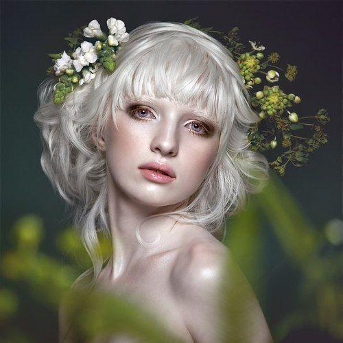 Nastya Zhidkova - albino model