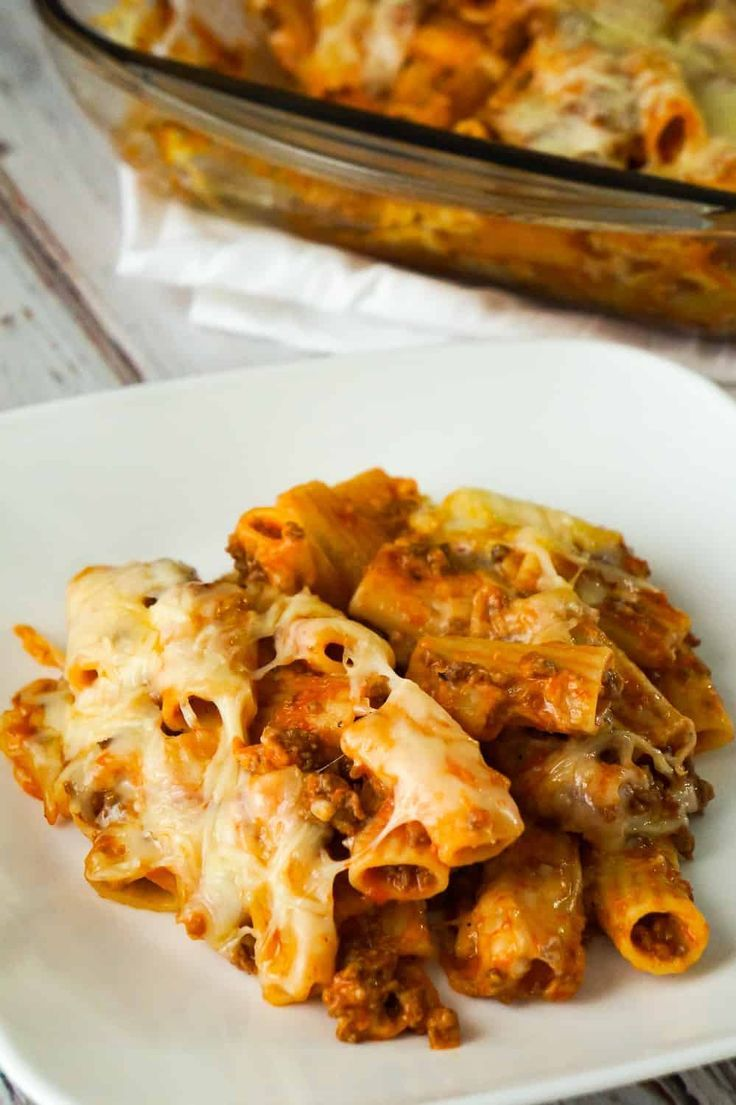Baked Rigatoni Bolognese Is An Easy Pasta Dinner Recipe Loaded With Cheese This Pasta With Gr Easy Pasta Dinner Pasta Dinner Recipes Easy Pasta Dinner Recipes