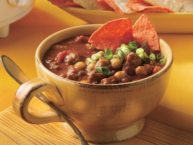 Slow Cooker Spicy Chili - use spicy chili beans instead of navy beans