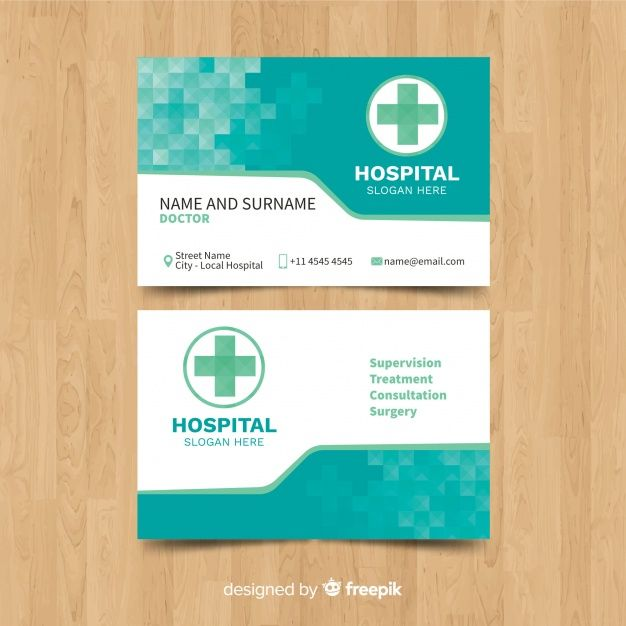 Medical Business Card Template With Modern Style Medical Business Card Free Business Card Templates Medical Business