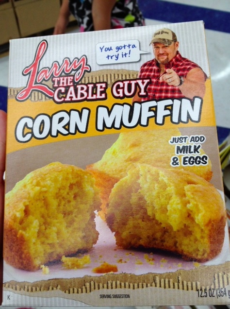 Larry the Cable Guy Corn Muffin mix: Guys Corn, Dollar Stores, Bizzar Products, Funny Stuff, Cable Guys, Muffins Mixed, Bizarre Products, Potables, Corn Muffins