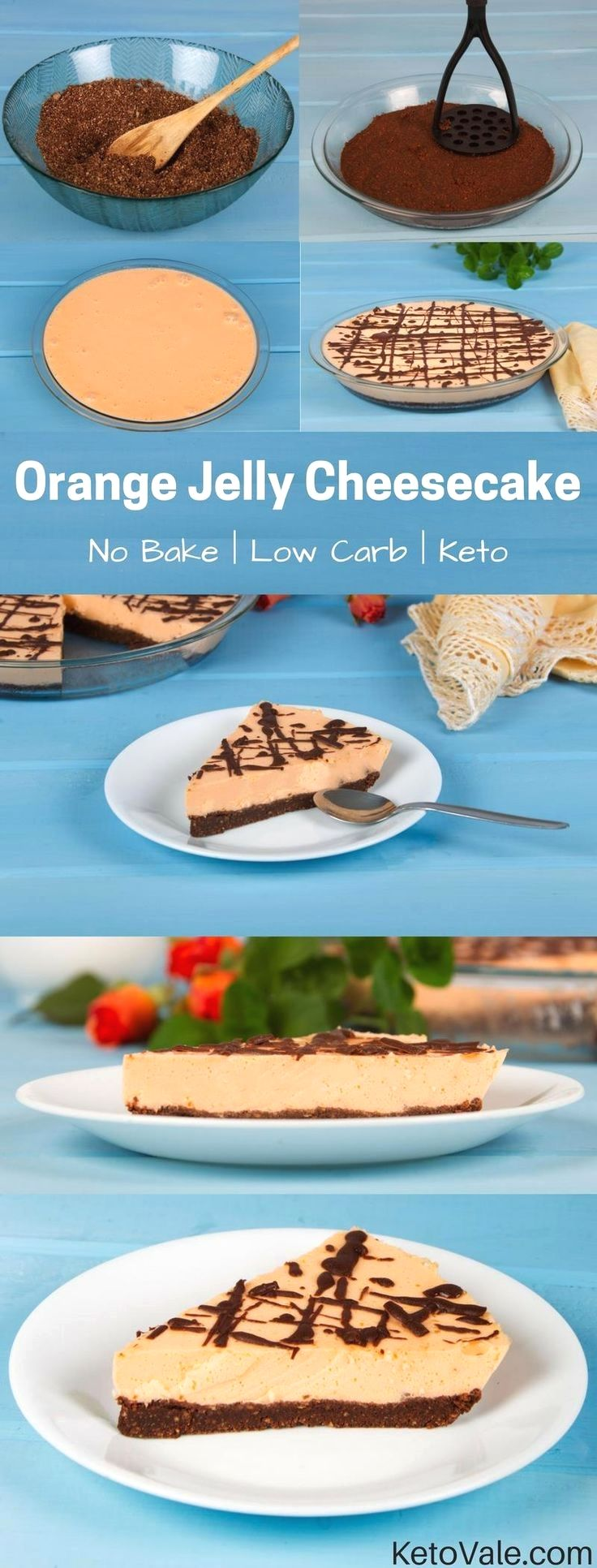 This Jelly Cheesecake is delicious and very simple to make. It does not require ...