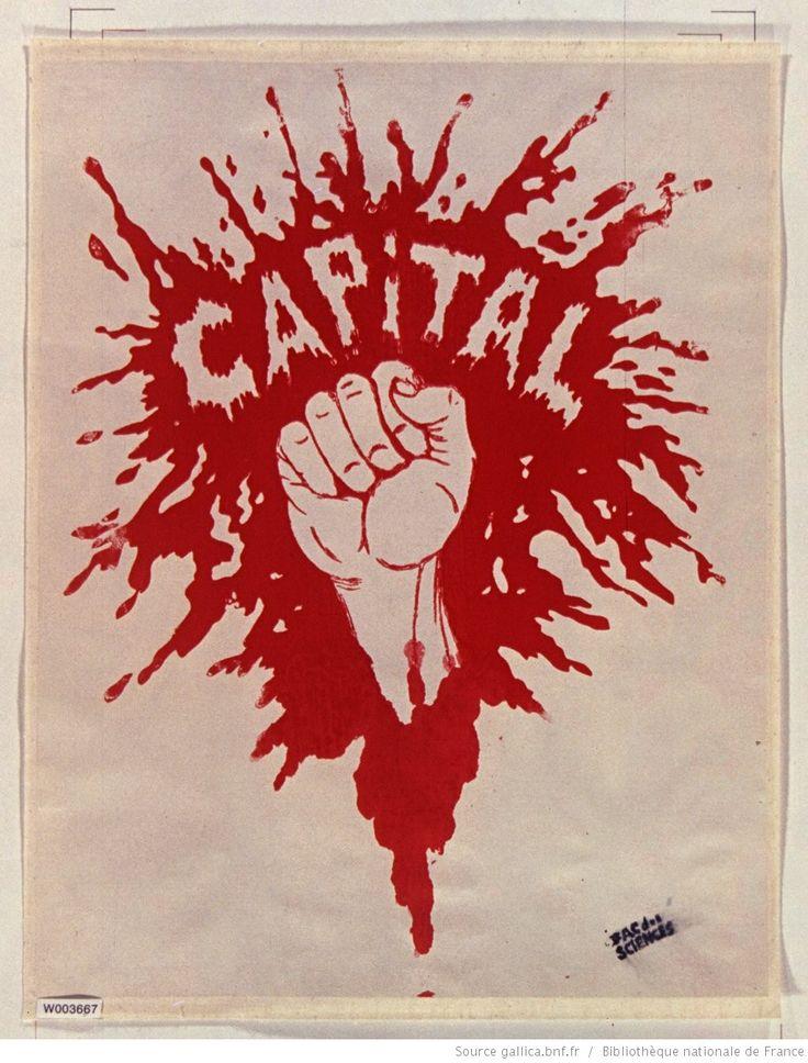[Mai 1968]. Capital (poing dans une flaque rouge), Fac. des Sciences : [affiche] / [non identifié]