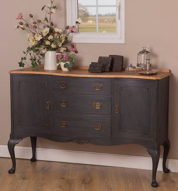 17 best ideas about painted sideboard on pinterest black for Painted buffet sideboard