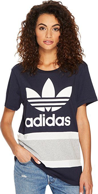 2a254827 adidas Originals Women's Boyfriend Trefoil T-Shirt at Amazon Women's  Clothing store:
