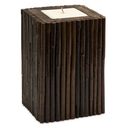 @Overstock - This handmade rattan candle will add a feeling of adventure from a far away land. The rich dark brown rattan and wood of the holder is highlighted by the white square candle in the middle.  http://www.overstock.com/Home-Garden/Rattan-Borneo-Small-Candle/5633129/product.html?CID=214117 $28.99
