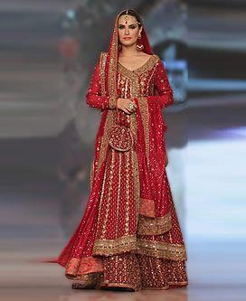 D4749 Pakistani Bridal Sharara San Francisco CA USA Mifrah Angrakha Bridal Collection Bridal Wear