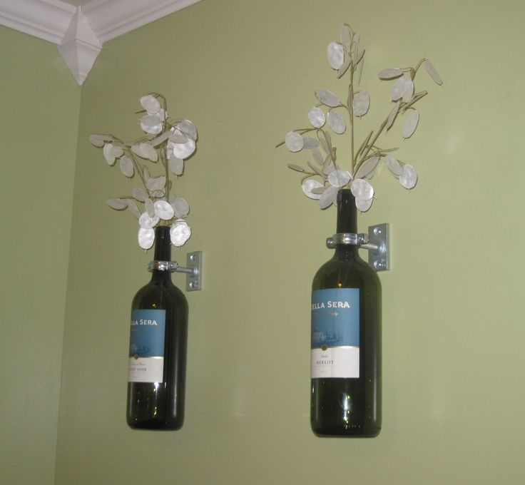 185 best wine bottle decorations images on pinterest for How to use wine bottles for decoration