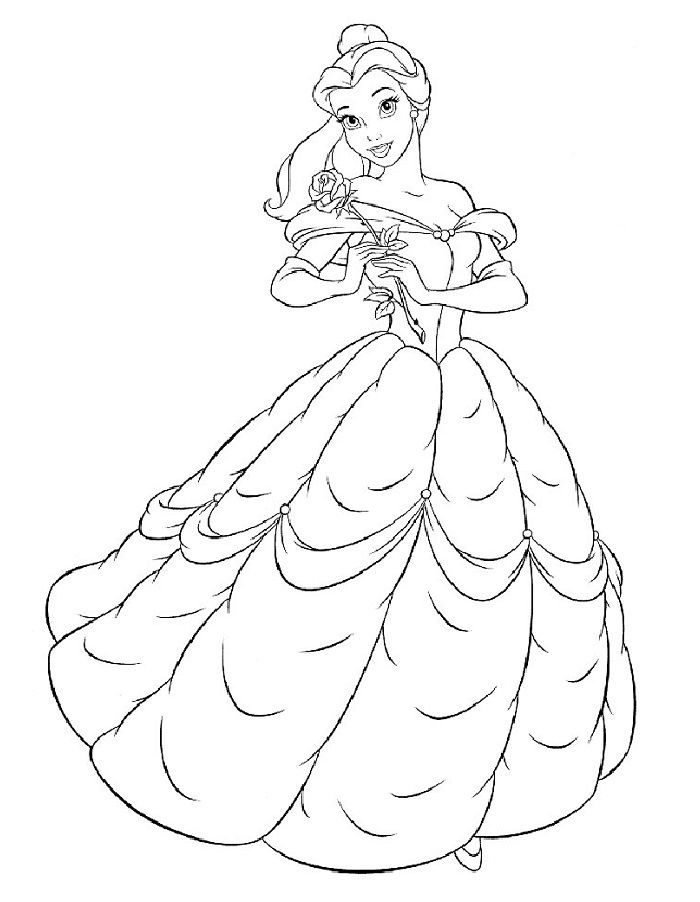 Pin By Sauri On Raskraski Dlya Detej Belle Coloring Pages Disney Princess Coloring Pages Disney Princess Colors