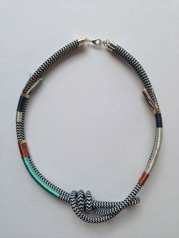 Round The Twist necklace aqua on Etsy, $69.00 AUD