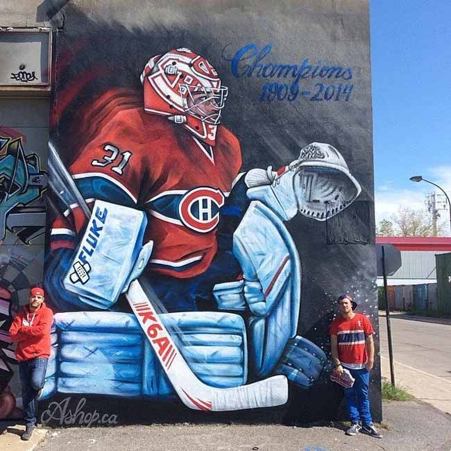This Is The Montreal Canadiens Carey Price Mega Mural | MTL Blog