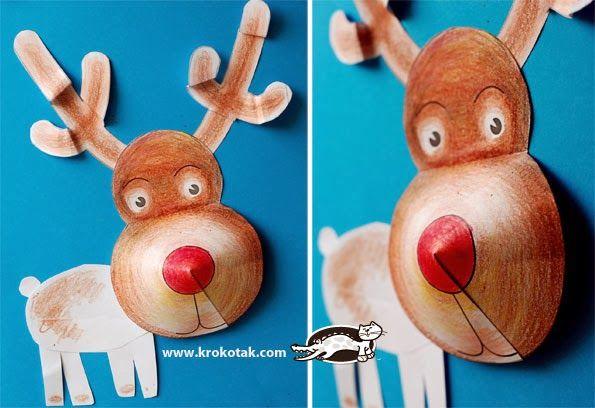 Okulöncesi Sanat ve Fen Etkinlikleri: 3 Boyutlu Geyik,Noel Baba ve Tavşan