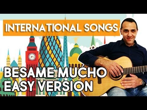 Besame Mucho - Easy Version - Guitar - YouTube
