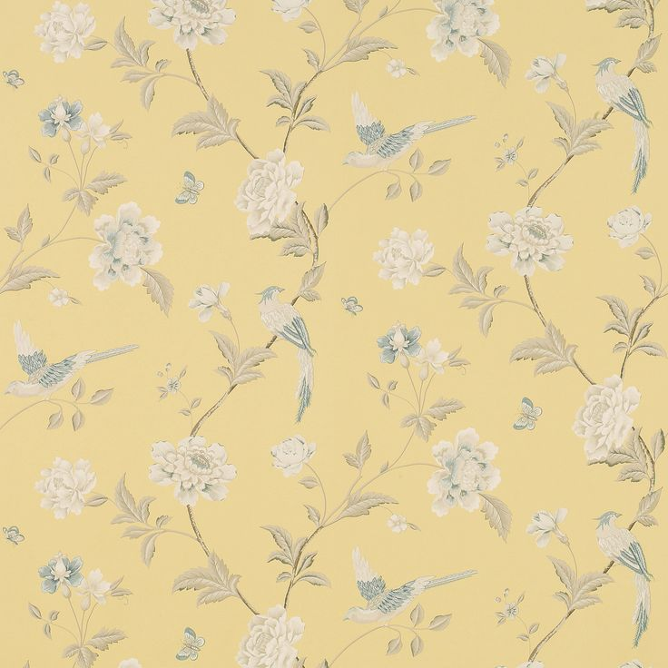 Elveden Camomile Wallpaper An elegant archive print depicting beautiful birds and flowers on washable wallpaper, suitable for all interiors including well ventilated kitchens and bathrooms. £39.00 per roll