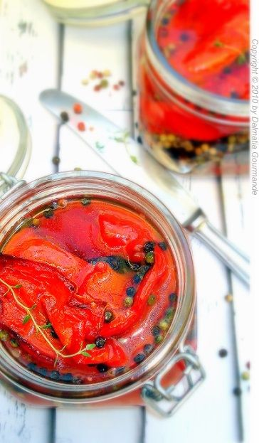 Dalmatia Gourmande: Pečene ukiseljene paprike/Pickled roasted peppers