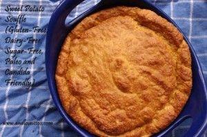 Sweet Potato Souffle. 15 min prep, positively gourmet!  #glutenfree #dairyfree #sugarfree #gfcf #paleo #acd #candida