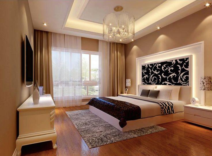 Glamourosan díszes hálószoba